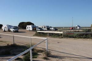 Caravan park area