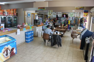 Dining area in the shop