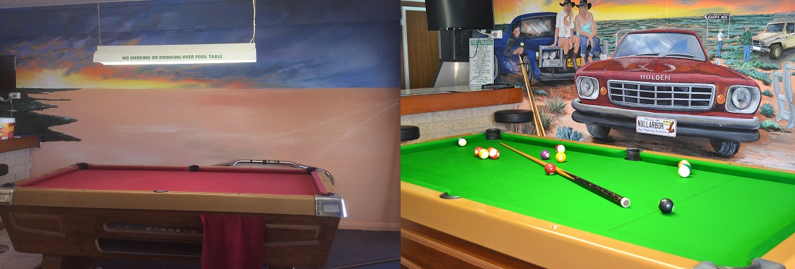 Nullarbor Roadhouse Pool Table (Before and After)
