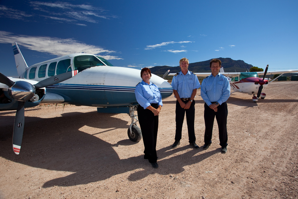 The Chinta Air team in front of their plane