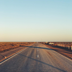 The 90 mile stretch of road along the Nullarbor