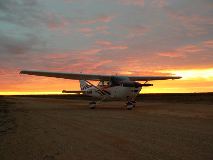 Chinta air flight over the Great Australian Bight
