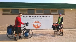 Erich and Ash at Nullarbor Roadhouse