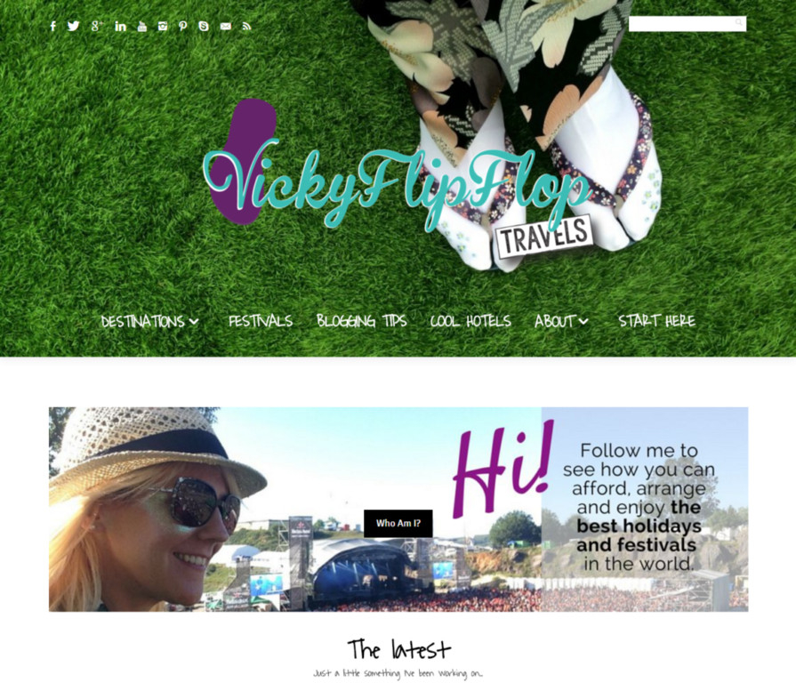 VickyFlipFlopsTravels Homepage