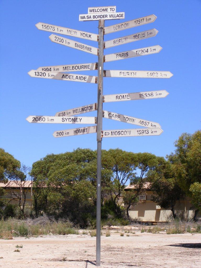 Border Village Signage